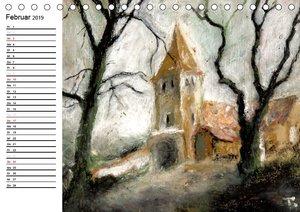 Schatten und Licht Buntstift und Öl von Topaze (Tischkalender 20