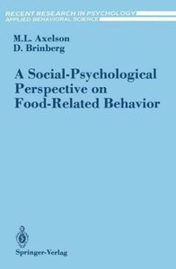 A Social-Psychological Perspective on Food-Related Behavior