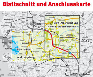 Mitteldithmarschen / Meldorf und Umgebung 1 : 15 000 Amtskartens