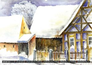 Malerische Dorfansichten in Aquarell (Wandkalender 2020 DIN A2 q