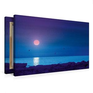 Premium Textil-Leinwand 75 cm x 50 cm quer Strand und Meer