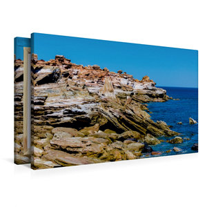 Premium Textil-Leinwand 90 cm x 60 cm quer Gantheaume Point