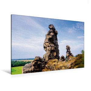 Premium Textil-Leinwand 120 cm x 80 cm quer Teufelsmauer