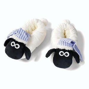 NICI 41476 - Shaun das Schaf, Hausschuhe mit Schlafmütze, Größe