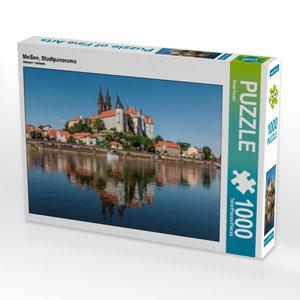 CALVENDO Puzzle Meißen, Stadtpanorama 1000 Teile Lege-Größe 64 x