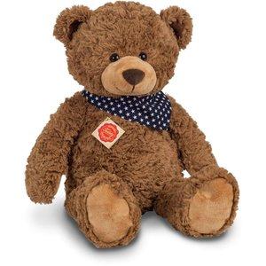 Teddy Hermann 91363 - Teddy braun mit Tuch, sitzend, 48 cm, Plüs
