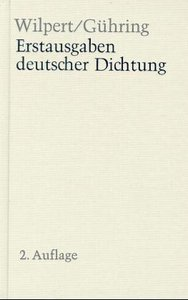 Erstausgaben deutscher Dichtung