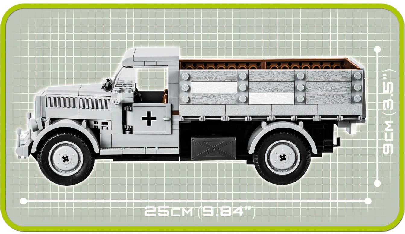 Weltkrieg WW2 Baustein-Modell 310T Cobi 2449A Opel Blitz 3t Armee Lastwagen 2