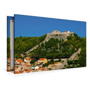 Premium Textil-Leinwand 120 cm x 80 cm quer Hvar Castle
