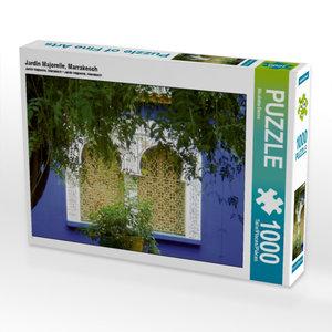 Jardin Majorelle, Marrakesch 1000 Teile Puzzle quer
