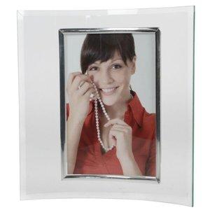 Bilderrahmen Glas geschwungen für Fotoformat 10 x 15 cm