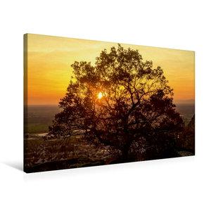 Premium Textil-Leinwand 75 cm x 50 cm quer Sonnenuntergang über