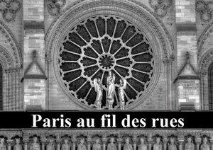 Paris au fil des rues (Livre poster DIN A4 horizontal)