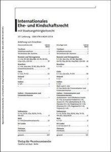 Internationales Ehe- und Kindschaftsrecht mit Staatsangehörigkei