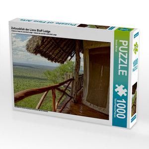 Zeltausblick der Lions Bluff Lodge 1000 Teile Puzzle quer