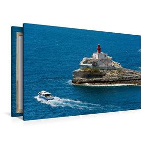 Premium Textil-Leinwand 120 cm x 80 cm quer Bonifacio - Leuchttu