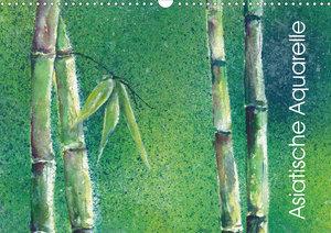 Asiatische Aquarelle (Wandkalender 2020 DIN A3 quer)