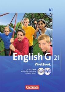 English G 21. Ausgabe A 1. 5. Schuljahr. Workbook mit CD-ROM (e-