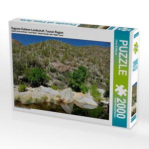 Saguaro Kakteen-Landschaft, Tucson Region 2000 Teile Puzzle quer