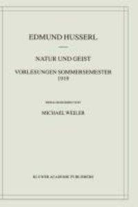 Natur und Geist: Vorlesungen Sommersemester 1919