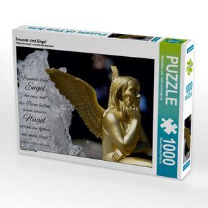 Freunde sind Engel 1000 Teile Puzzle quer