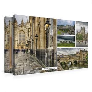 Premium Textil-Leinwand 75 cm x 50 cm quer Bath & Stonehenge