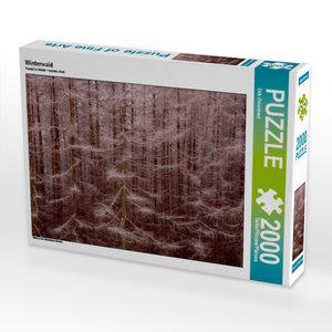 CALVENDO Puzzle Winterwald 2000 Teile Lege-Größe 90 x 67 cm Foto