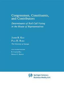 Congressman, Constituents, and Contributors