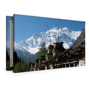 Premium Textil-Leinwand 90 cm x 60 cm quer Weg nach Nawal - Anna