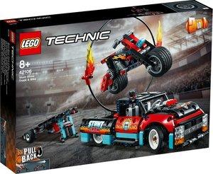 Technic Stunt-Show mit Truck und Motorra