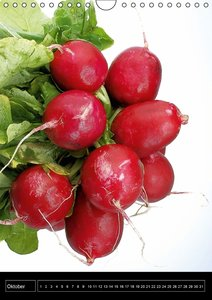 Gesundes Gemüse (Wandkalender immerwährend DIN A4 hoch)