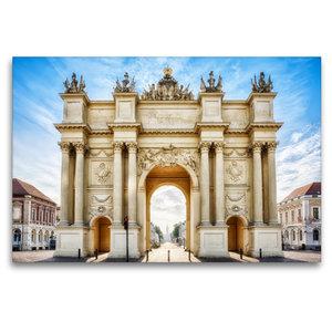 Premium Textil-Leinwand 120 cm x 80 cm quer Brandenburger Tor in