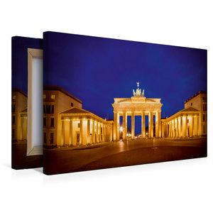 Premium Textil-Leinwand 45 cm x 30 cm quer Funkelndes Brandenbur