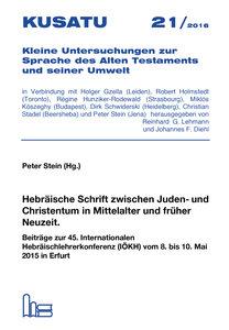 Hebräische Schrift zwischen Juden- und Christentum in Mittelalte
