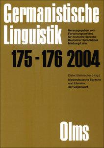 Germanistische Linguistik / Niederdeutsche Sprache und Literatur
