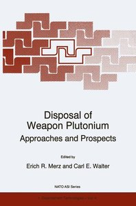 Disposal of Weapon Plutonium