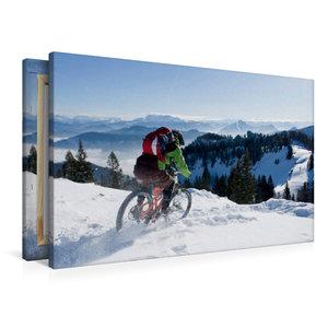 Premium Textil-Leinwand 90 cm x 60 cm quer Kampenwand/Germany,