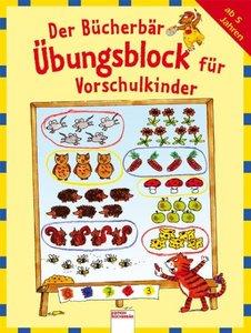 Der Bücherbär-Übungsblock für Vorschulkinder