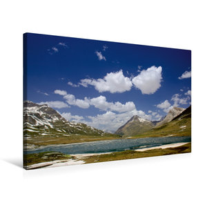 Premium Textil-Leinwand 75 cm x 50 cm quer Lago Bianco Stausee