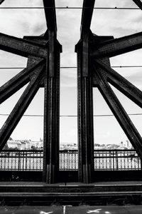 Premium Textil-Leinwand 80 cm x 120 cm hoch Stahlbrücke