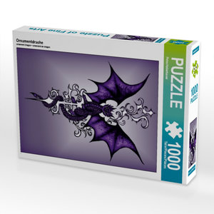 Ornamentdrache 1000 Teile Puzzle hoch