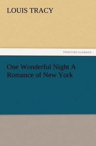 One Wonderful Night A Romance of New York