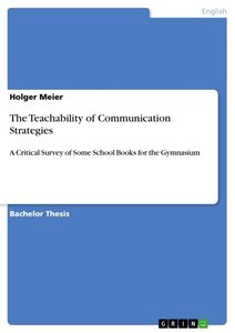 The Teachability of Communication Strategies