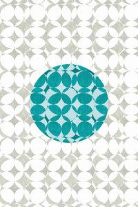 Premium Textil-Leinwand 50 cm x 75 cm hoch Punkte, Türkis und We