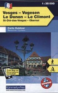 KuF Elsass / Vogesen Outdoorkarte 06 Vogesen - Le Donon - Le Cli