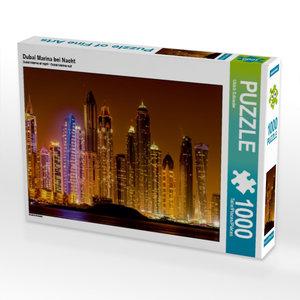 Dubai Marina bei Nacht 1000 Teile Puzzle quer