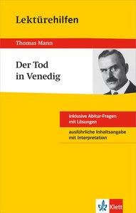 "Klett Lektürehilfen Thomas Mann ""Der Tod in Venedig"""