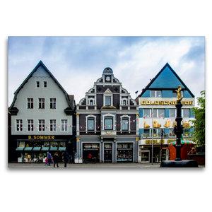 Premium Textil-Leinwand 120 cm x 80 cm quer Hausfassaden an der
