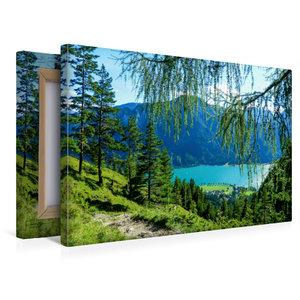 Premium Textil-Leinwand 45 cm x 30 cm quer Hinab zum Achensee,Ti