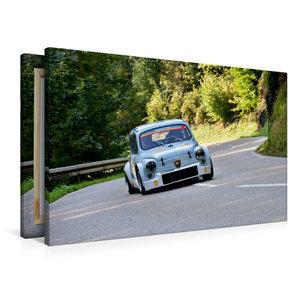 Premium Textil-Leinwand 90 cm x 60 cm quer Fiat Abarth 1000 TCR